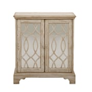 "Right2Home White Ogee Overlay Mirrored Door Chest 28""L x 13""W x 31""H (DS-A092023)"
