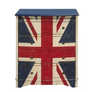 "Right2Home Union Jack Accent Drawer Chest 26""L x 17""W x 31.25""H (DS-D018005)"