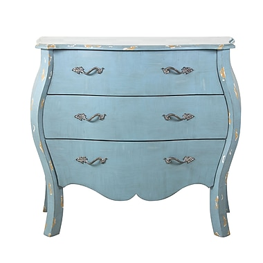 Right2Home Distressed Blue French Drawer Chest 38
