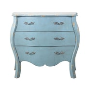"Right2Home Distressed Blue French Drawer Chest 38""L x 16""W x 33""H (DS-D018008)"