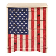 "Right2Home American Flag Accent Drawer Chest 26""L x 17""W x 31.25""H (DS-D018004)"