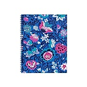 """Vera Bradley Bloom Berry Composition Notebook, 8"""" x 10.5"""", College Ruled, 70 Sheets, Blue/Pink (218063)"""