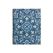 "Vera Bradley Bonbon Medallion Composition Notebook, 8"" x 10.5"", College Ruled, 70 Sheets, Blue (218087)"