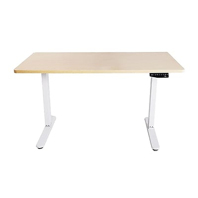 Mingo Labs Single Motor Height Adjustable Table in White Oak (TPL100W)
