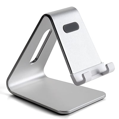 Mingo Labs Raised Phone And Tablet Stand, Silver (AP-4S)