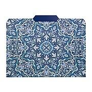 Vera Bradley Bonbon Medallion Blue File Folder, Letter Size, 4/Pack (214387)