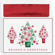 """Great Papers!®  Holiday Greeting Cards, Snowflake Tree Trio, 7.875"""" x 5.625"""", 16 Cards/16 Foil-Lined Envelopes (904000)"""