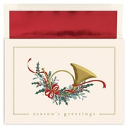 """Great Papers!®  Holiday Greeting Cards, French Horn, 7.875"""" x 5.625"""", 16 Cards/16 Foil-Lined Envelopes (897000)"""