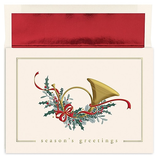 Great papers holiday greeting cards french horn 7875 x 5625 httpsstaples 3ps7is m4hsunfo