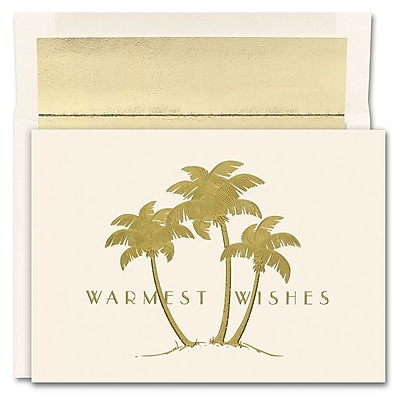 Great Papers!® Holiday Greeting Cards, Gold Palms, 7.875