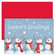 """Great Papers!®  Holiday Greeting Cards, Happy Snowmen, 7.875"""" x 5.625"""", 18 Cards/18 Envelopes (903200)"""