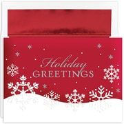 """Great Papers!® Holiday Greeting Cards, Holiday Flakes, 7.875"""" x 5.625"""", 16 Cards/16 Foil-Lined Envelopes (896000)"""