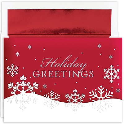 Great Papers!® Holiday Greeting Cards, Holiday Flakes, 7.875
