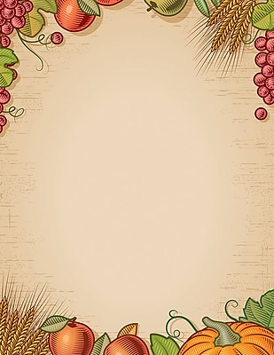 Great Papers!® Holiday Stationery, Fall Harvest, 8.5