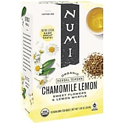 Numi Chamomile Lemon Herbal Tea Bags, 18/Box (10150)