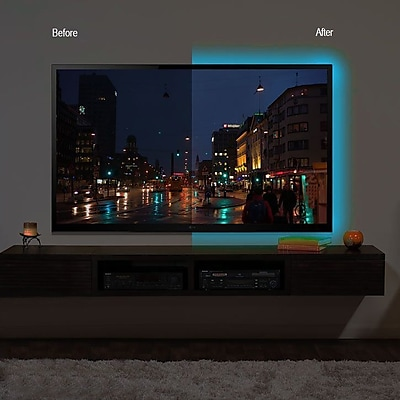 CJ Tech72266 1 Strip 6FT Color TV Mood Light with 16 color selection and wireless remote control
