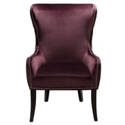 Right2Home Upholstered Luxor Raisin Arm Chair (DS-2527-900-488)
