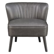 Right2Home Faux Leather Lummus Steel Accent Chair (DS-D030002-329)