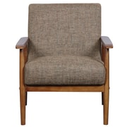 Right2Home Upholstered Medium Wood Arm Chair (DS-D030003-487)