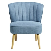 Right2Home Channeled Blue Accent Chair (DS-D027008-455)