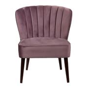 Right2Home Channeled Luxor Lilac Accent Chair (DS-D027008-477)