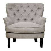 Right2Home Button-Tufted Lunar Storm Arm Chair (DS-2522-900-479)