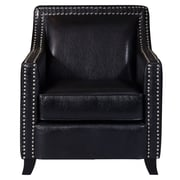 Right2Home Faux Leather Black Arm Chair (DS-D113002)