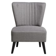 Right2Home Channeled Gray Slipper Chair (DS-D027002-447)