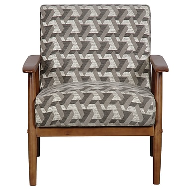 Right2Home Upholstered Chestnut and Prism Arm Chair (DS-D030003-486)