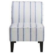 Right2Home Upholstered Blue Striped Slipper Chair (DS-D027004-450)
