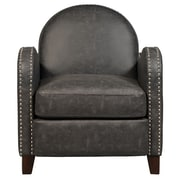 Right2Home Faux Leather Charcoal Arm Chair (DS-D113003)
