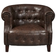 Right2Home Faux Leather Brown Barrel (DS-D113001)
