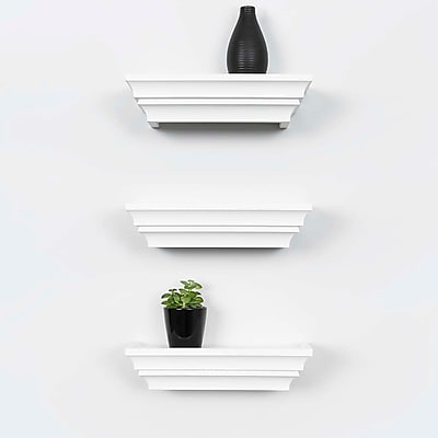Kiera Grace Madison Contoured Wall Ledge & Shelf, 12-Inch, White (FN00283-9MC)
