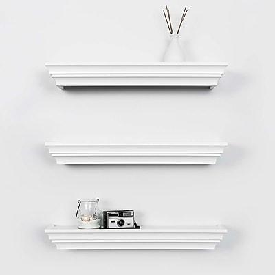Kiera Grace Madison Contoured Wall Ledge & Shelf, 24-Inch, White (FN00285-3MC)