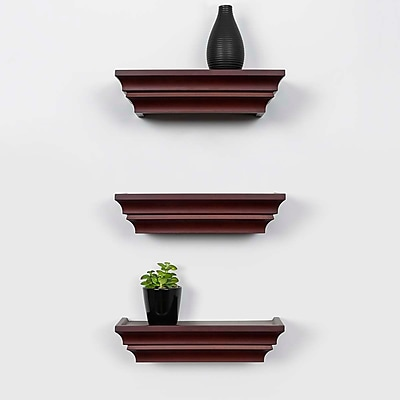 Kiera Grace Madison Contoured Wall Ledge & Shelf, 12-Inch, Espresso (FN00286-0MC)