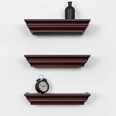 Kiera Grace Madison Contoured Wall Ledge & Shelf, 16-Inch, Espresso (FN00287-7MC)