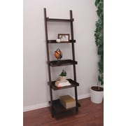 "Kiera Grace Hadfield 67""H x 18""W 5 Tier Leaning Shelf - Espresso (FN43648-1)"