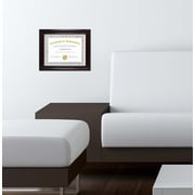 Kiera Grace Lucy Document Frame, 8.5 by 11-Inch, Dark Brown with Gold Beading (PH43818-8MC)