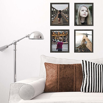 Kiera Grace Linear Picture Frame, 8 by 10-Inch, Driftwood Black (PH44069-3MC)