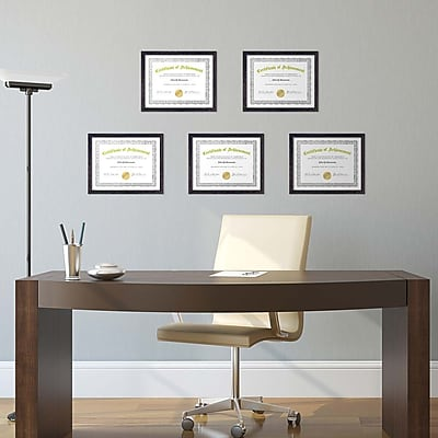 Kiera Grace Linear Document Frame, 8.5 by 11-Inch, Driftwood Black (PH44108-9MC)
