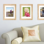 Kiera Grace Loft Picture Frame, 11 by 14-Inch Matted for 8 by 10-Inch, Natural Oak (PH44112-6MC)