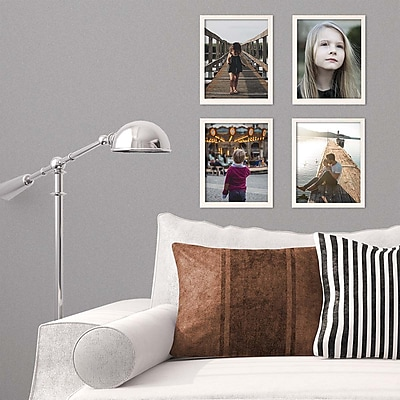 Kiera Grace Linear Picture Frame, 8 by 10-Inch, Pale Driftwood (PH44118-8MC)