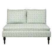 Right2Home Upholstered Pattern Blue Bench (DS-2282-400)