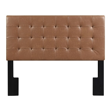 Right2Home Biscuit Tuft Full / Queen Faux Leather Headboard 65.5