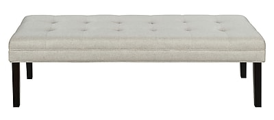Right2Home Linen-like Modern Tufted Bed Bench (DS-D029001-459)