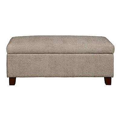 Right2Home Hinged Top Storage Bed Bench in Aldo Overcast (DS-D107001-583)
