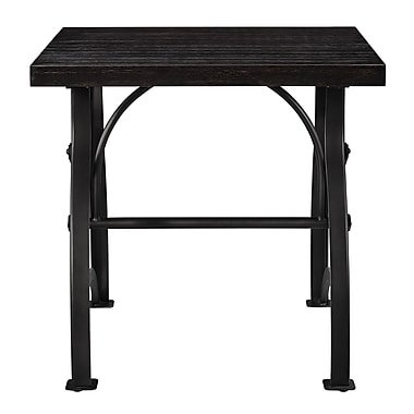Right2Home Tiburon Wood & Metal End Table End Table Dark Wood (DS-D080)