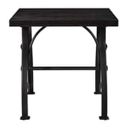 Right2Home Tiburon Wood & Metal End Table Dark Wood (DS-D080)