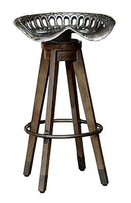 Right2Home Max Seat Height 32 Inches Backless Swivel Antique Tractor Seat Barstool (DS-P006110)