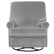 Right2Home Faux-Leather Rocking Chair Polished Chrome Steel Finish (DS-D144-900-1)